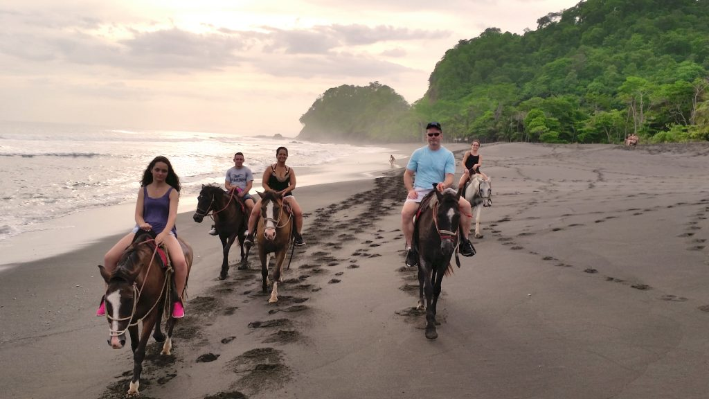 Horseback riding on the beach costa rica